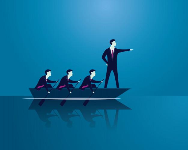 hommes sur un bateau (différence leader et chef)