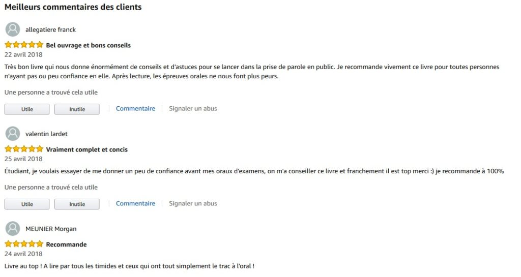 screen commentaire amazon