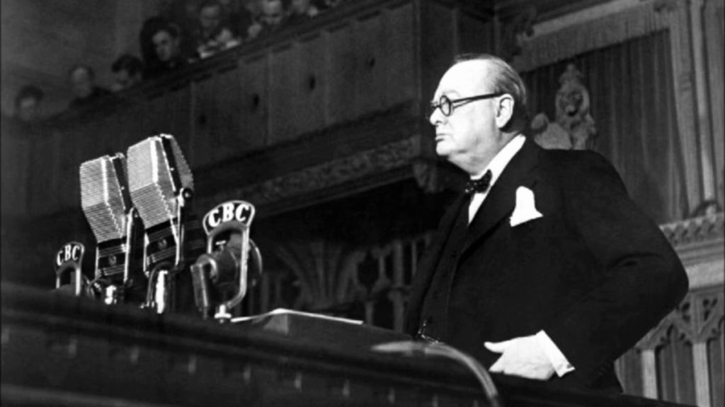 orateur winston churchill
