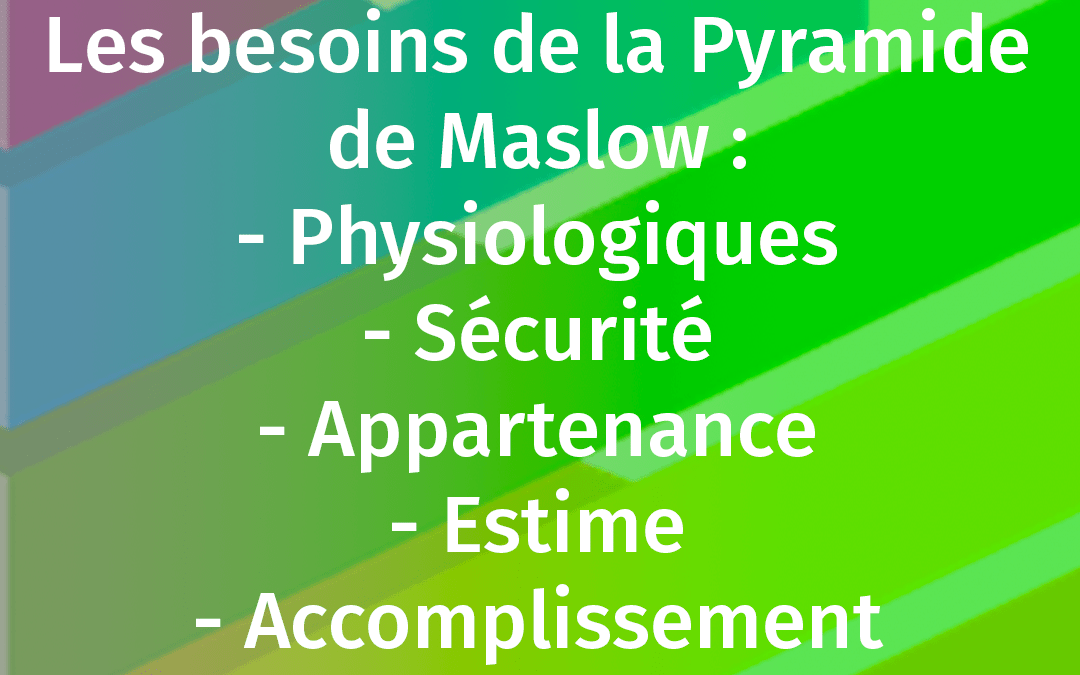 PYRAMIDE DE MASLOW EXPLICATION