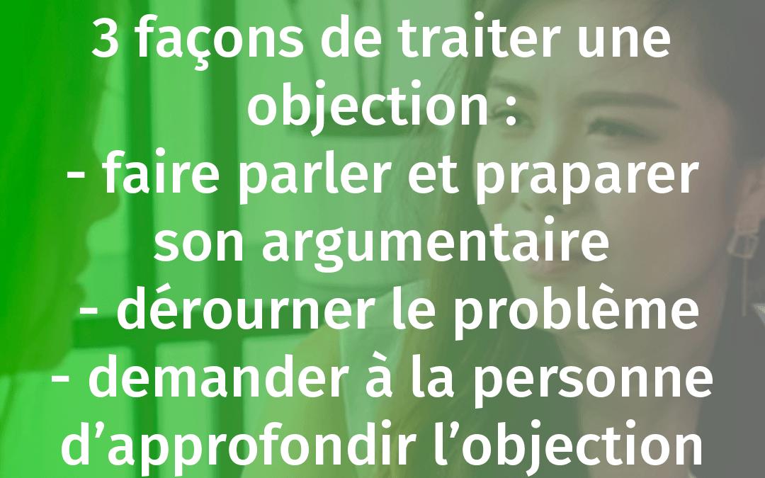 TECHNIQUES DE TRAITEMENT DES OBJECTIONS